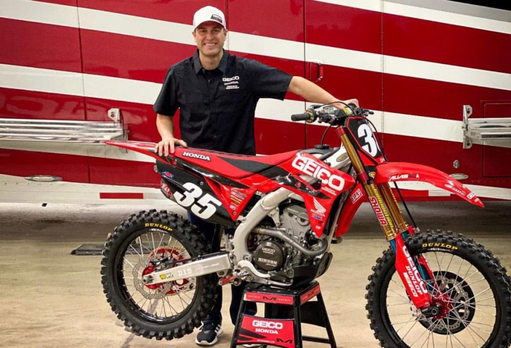 RYAN DUNGEY'S FIRST RIDE ONBOARD THE GEICO HONDA