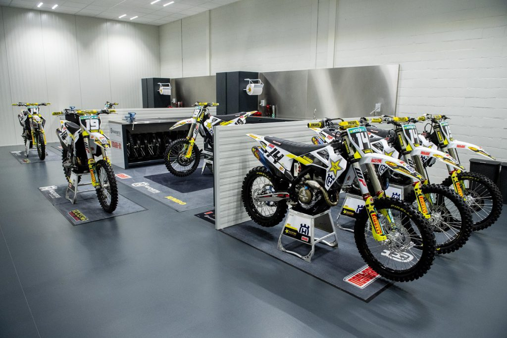 A tour in the Rockstar Energy Husqvarna Factory Racing ….