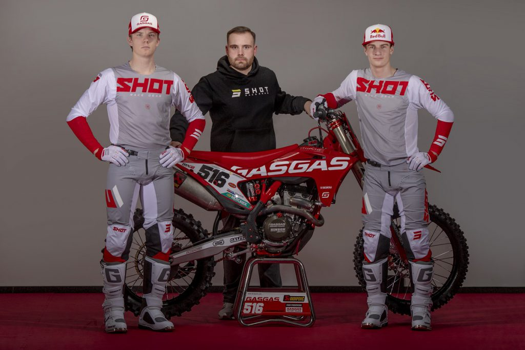 Shot and DIGA Procross GasGas Factory Racing challenge together